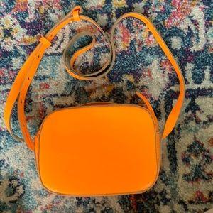 J. Crew SUMMER Neon Orange Camera Bag
